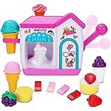 Auggie BathToysfor Toddlers FoamMakerBathtub IceCream Bubble PretendCakePlaySet Tub Water Bathtime Toys GiftforGir