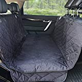 Winner Outfitters Dog Car Seat Covers,Dog Seat Cover Pet Seat Cover for Cars, Trucks, and SUV - Black, 100% Waterproof, Hammo