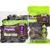 Absolute Organic Dried figs Turkish - Organic Dried Plums Unpitted Prunes superfood fruit tender & Juicy High in antioxidants