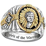 Indian Chief Ring for Men, Native American Indian Head Rings, Viking Buffalo Ring, Spirit of The Warrior Ring, Indian Headdre