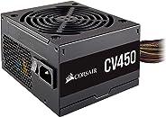 Corsair CV450 PC電源ユニット 450W 80PLUS BRONZE認定 小型 CP-9020209-JP PS908