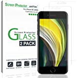 """amFilm Glass Screen Protector for iPhone SE 2020, iPhone 8, 7, 6S, 6 (4.7"""")(2 Pack) Halo Free Tempered Glass Screen Protector"""