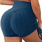 YASION Womens Ruched Butt Shorts Ruched Booty Gym Workout Butt Lifting Booty Lift High Waist Running Push Up Yoga Shorts