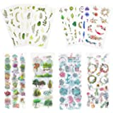 Knaid Watercolor Stickers Set (Assorted 600+ Pieces, 36 Sheets) - Decorative Sticker for Scrapbooking, Kid DIY Arts Crafts, A