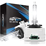 Marsauto D3S Xenon HID Headlight Bulbs 5000K Pure White 35W with Metal Stents Base and Gloves for 12V HID Headlight Bulbs 2Pa