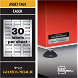 "Avery PermaTrack Metallic Asset Tag Labels for Laser Printers, 3/4"" x 2"", 240 Labels (61524)"