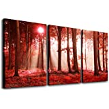 3 Pieces wall art for bedroom canvas prints artwork bathroom wall decor abstract sunrise and sunset scenery picture watercolo