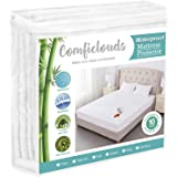 Queen Size Premium Hypoallergenic Waterproof Mattress Protector Pad Cover,Bamboo Terry Top Breathable Fitted Sheet Style Deep