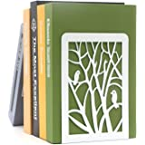Dr.HeiZ Book Ends, Book Ends for Shelves, Decorative Bookends for Heavy Books, Non-Skip Metal Bookends for School, Home or Of