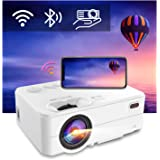 """Mini Projector - Artlii Enjoy 2 HD WiFi Bluetooth Projector, 5000L 300"""" Display, Compatible with TV Stick, HDMI, iPhone, Andr"""