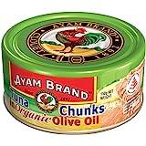 Ayam Brand Tuna Flakes in Organic Extra Virgin Olive Oil | Wild Caught Premium Tuna | Omega 3, Vitamin E, B6 & B12 | Halal &