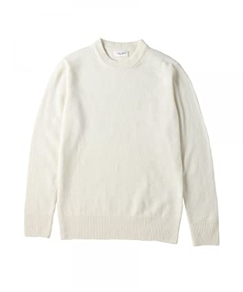 Middle Gauge Wool Crewneck Sweater 1113-199-3451: White
