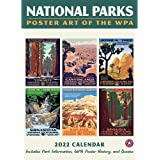 """National Parks GRID—WPA Wall Calendar 2022, Monthly January-December 8.75'' x 12"""" (Made in USA)"""