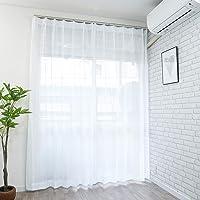 【cloth shop 布や】ミラーレースカーテン UV 外から見えにくい 幅100㎝x丈88㎝ 1枚入[ラスク2レース…