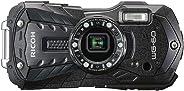 RICOH WG-60 ブラック 本格防水デジタルカメラ 14メートル防水 耐衝撃 防塵 耐寒 高画質1600万画素 水中専用マーメードモード搭載 仕事に使える「CALSモード」搭載