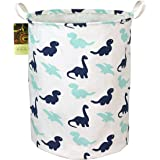 HUNRUNG Large Canvas Fabric Lightweight Storage Basket Toy Organizer Dirty Clothes Collapsible Waterproof for College Dorms,