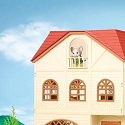 シルバニアファミリーの人気壁紙画像 3階建てのおしゃれなお家+森のハンバーガー屋さん