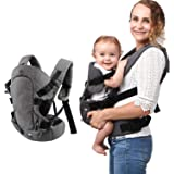 Baby Convertible Carrier, All Carry Position Newborn to Toddlers Ergonomic Carrier with Soft Breathable Air Mesh and All Adju