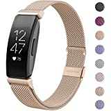 HAPAW Compatible with Fitbit Inspire HR Bands/Inspire Metal Band, Inspire Accessories Stainless Steel Mesh Bracelet Women Men