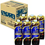 【Amazon.co.jp限定】 キーコーヒー リキッドコーヒー 天然水 微糖 テトラプリズマ 1000ml ×6本
