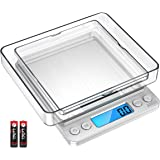 AMIR Digital Kitchen Scale 3000g 0.01oz/ 0.1g Pocket Cooking Scale Mini Food Scale Pro Electronic Jewelry Scale with Back-Lit