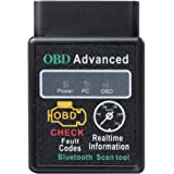 Eonon 2021 V0056 OBD2 OBDII Diagnostic Scanner Bluetooth Scan Tool Adapter ELM327 Head Unit with Android 4.4 to 10 System for
