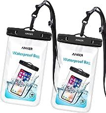 【2個セット】Anker 完全防水ケース IPX8規格 ドライバッグ 【iPhone X / 8 / 8 Plus / その他最大6インチスマホに対応】