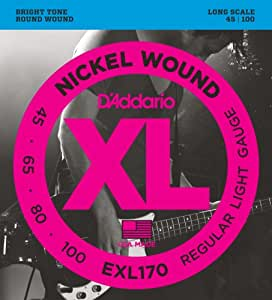 D'Addario ダダリオ ベース弦 ニッケル Long Scale .045-.100 EXL170 【国内正規品】