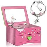 Amitié Lane Unicorn Jewelry Box For Girls - Two Unicorn Gifts For Girls Plus Augmented Reality App (STEM Toy) - Unicorn Music