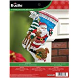 Bucilla Nordic Santa Felt Applique Stocking Kit, 86647 18-Inch