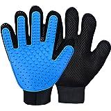 Petper ABJGMGLV01 Pet Grooming Glove, Bathing Brush Glove, Pet Hair Remover Deshedding Gloves for Pet Dog Cat 1 Pair