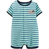 Carter's Baby Boys' Striped Romper (Baby) - Dinosaur - Newborn