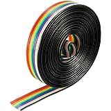 uxcell ジャンプワイヤ XH1.27 10ピンリボンワイヤー 銅線 10Pジャンパ線 1.27mmピッチ 長さ3m 1個入り