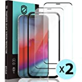 """[2 Pack] ZUSLAB Dustproof Screen Protector for iPhone 12 Pro 6.1"""" & iPhone 12 6.1"""" Tempered Glass with Installation Alignment"""
