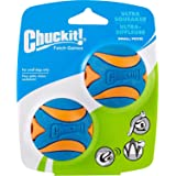 Chuckit! Ultra Squeaker Ball - 2pk, Blue & Orange, Small
