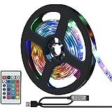 LEDテープライト ledテープ テレビバックライト 間接照明 2835SMD USB式 リモコン付き 強力粘着テープ 取付簡単 切断可能 省エネ 調光調色 部屋 看板 ホーム装飾用 棚下照明 テレビの背景照明用LED 屋内屋外兼用