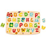 Hape E1505 Alphabet Peg Puzzle (27 Pieces),5'' x 2'',Multicolor