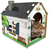 ASPCA Cat Scratch & Play Cardboard House w/Bonus Catnip Included