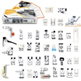 42 pcs Presser Feet Set with Manual & Case SIMPZIA Sewing Machine Foot Kit for Brother, Babylock, Janome, Singer,Elna, Toyota