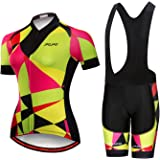 JPOJPO Women's Cycling Jersey,Bike Short Sleeve,Summer Racing Cycling Clothing Ropa Ciclismo, Comfortable Quick Dry