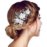 Meiysh Bridal Flower Side Hair Clips Pearl Bridal Headpiece Wedding Accessories(Off White)