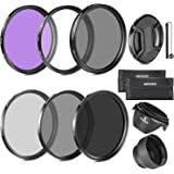 Neewer 58MM Must Have Lens Filter Accessory Kit for CANON EOS Rebel T5i T4i T3i T3 T2i T1i XT XTi XSi SL1 DSLR Cameras- Inclu