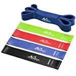 """Moko Resistance Loop Bands 4 Pack + Pull-up Assist Band, 12"""" Exercise Working Out Bands, Stretch Resistance Band, Set of..."""