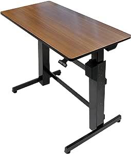 エルゴトロン WorkFit-D 座位・立位両用 昇降デスク チェリーウッドグレイン 24-271-927
