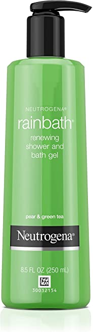Neutrogena Rainbath Renewing Shower And Bath Gel, Moisturizing Body Wash and Shaving Gel with Clean Rinsing Lather, Pear & Gr