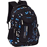 Fanci Flora Camo Prints Waterproof Nylon Elementary Middle High School Backpack Bookbag for Teenage Boys Travel Rucksack Dayp