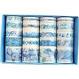 20 Rolls Vintage Red Washi Tape, Strawberry Kawaii Cake Floral Flower Washi Masking Tape Set for Scrapbooking, Bullet Journal
