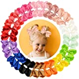 "30pcs Hair Bows for Girls 3""Grosgrain Ribbon Boutique Bow Alligator Clips Hair Barrettes Accessories for Little Girls toddler"