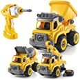 Take Apart Toys with Electric Drill | Converts to Remote Control Car | 3 in one Construction Truck Take Apart Toy for Boys |