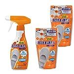 【まとめ買い】 おひさまの洗たく くつクリーナー 液体洗剤 靴 洗剤 スプレー泡タイプ (本体240ml + つめかえ200ml×2個)